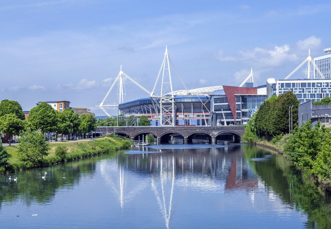 See the Principality stadium from the Front Door